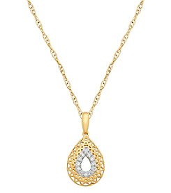 14K Yellow Gold 0.10 Ct. T.W. Diamond Pendant