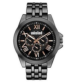 Unlisted by Kenneth Cole 58mm Black IP Watch