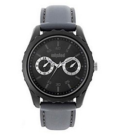 Unlisted by Kenneth Cole 50mm Gray Silicone Analog Watch