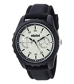 Unlisted by Kenneth Cole 50mm Black Silicone Analog Watch