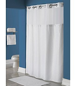 Hookless Classic Herringbone Shower Curtain with PEVA Liner
