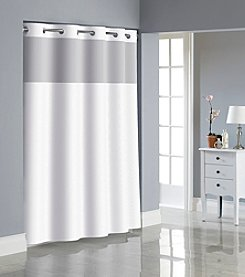 Hookless Dobby Texture Shower Curtain with PEVA Liner