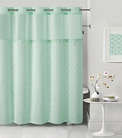 Hookless Mosaic Shower Curtain with PEVA Liner