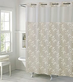 Hookless Spring Leaves Shower Curtain with PEVA Liner