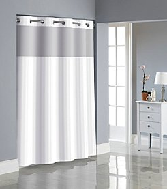 Style Lounge Shower Curtain. Hookless Victorian Satin Stripe Shower Curtain with PEVA Liner Curtains  Liners Bed Bath Elder