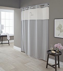 Hookless Park Avenue Stripe Shower Curtain with PEVA Liner