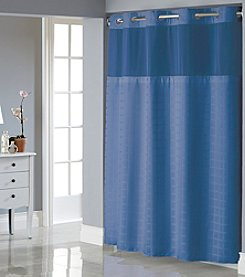 Hookless Square Tile Shower Curtain with PEVA Liner