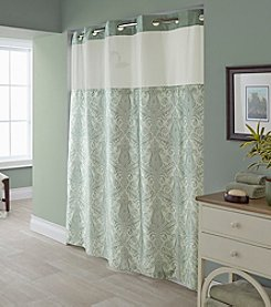 Hookless Vintage Medallion Shower Curtain with PEVA Liner