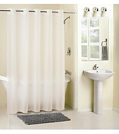 Hookless Frosty PEVA Shower Curtain/Liner