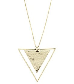 Canvas Oversized Triangle Pendant Necklace
