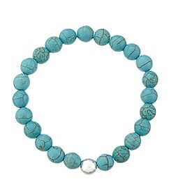 Genuine Howlite And Crystal Bracelet