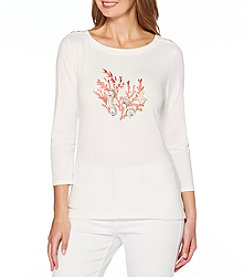 Rafaella Front Embroidery Detail Top