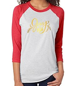 BuffaLove Joy Raglan Red Tee