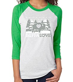 BuffaLove Winter Tree Raglan Green Tee
