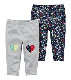 Carter's Baby Girls' 2 Pk. Heart And Floral Leggings