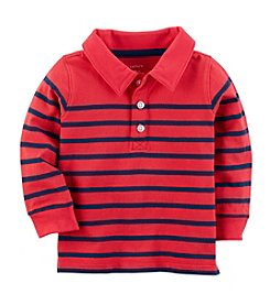 Carter's Baby Boys' Long Sleeve Striped Jersey Polo Tee