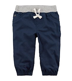 Carter's Baby Boys' 0M-24M Pull On Canvas Joggers