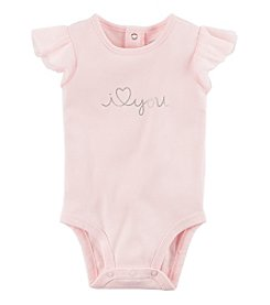 Carter's Baby Girls' Tulle Sleeve I Love You Collectible Bodysuit