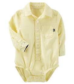 OshKosh B'Gosh Baby Boys' Button Front Poplin Bodysuit