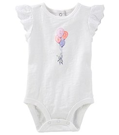 OshKosh B'Gosh Baby Girls' Love Ruffle Sleeve Bodysuit