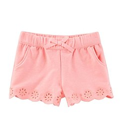 OshKosh B'Gosh Baby Girls' Pull On Eyelet Shorts