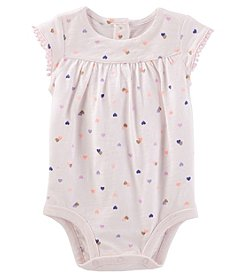 OshKosh B'Gosh Baby Girls' Cap Sleeve Hearts Bodysuit