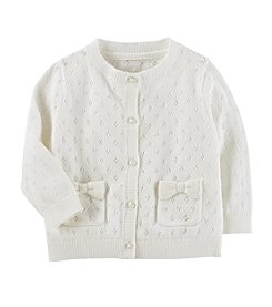 OshKosh B'Gosh Baby Girls' Long Sleeve Pointelle Cardigan