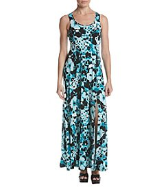 MICHAEL Michael Kors Floral Pattern Side Slit Hem Dress