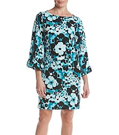 MICHAEL Michael Kors Floral Pattern Bell Sleeve Dress