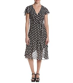 MICHAEL Michael Kors Polka Dot Pattern Ruffle Dress