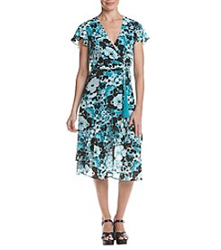MICHAEL Michael Kors Floral Pattern Ruffle Design Dress