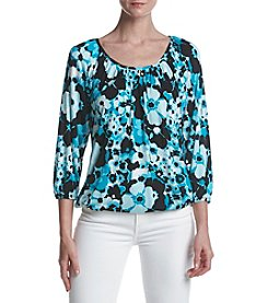 MICHAEL Michael Kors Floral Pattern Peasant Style Top