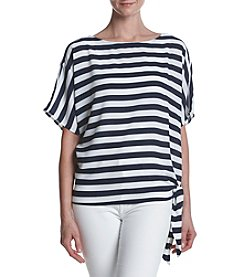 MICHAEL Michael Kors Striped Pattern Tie Hem Top