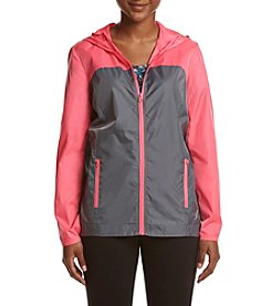 Exertek Petites' Colorblock Rain Jacket
