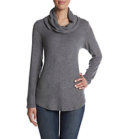 AGB Ribbed Texture Cowl Neck Sweater Top