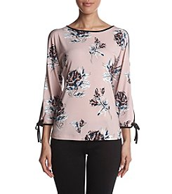 Ivanka Trump Floral Pattern Cold Shoulder Top