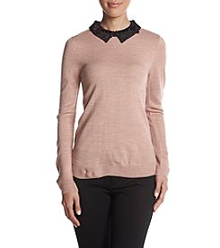 Ivanka Trump Lace Collar Sweater