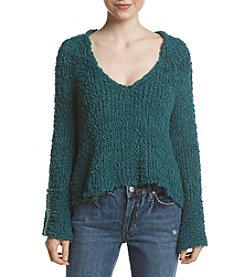 Free People Sand Dune Pullover With Flare Sleeve Top