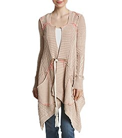 Free People All Washed Out Asymmetrical Cardigan Sweater
