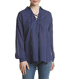 Free People Under The Boardwalk Lace Up Top
