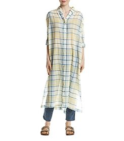 Free People By My Side Buttondown Maxi Shirt