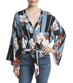Free People That's A Wrap Floral Print Top