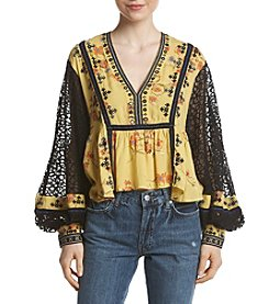 Free People Boogie All Night Print Top