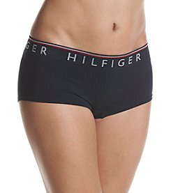 Tommy Hilfiger Seamless Ribbed Logo Detail Boyshort Panties