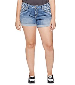 Silver Jeans Co. Plus Size Sam Cuffed Boyfriend Shorts