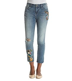 Ruff Hewn Embroidered Skinny Ankle Jeans