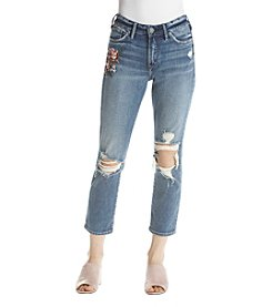 Silver Jeans Co. Embroidered Desert Rose Cropped Jeans