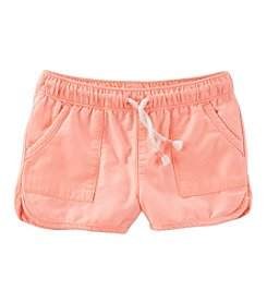 Oshkosh B'Gosh Girls' 2T-5T Drawstring Cotton Twill Shorts