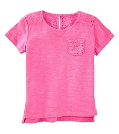 Oshkosh B'Gosh Girls' 2T-5T Eyelet Pocket Tee