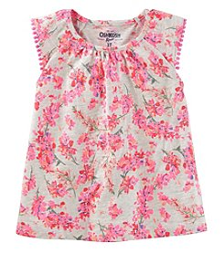 Oshkosh B'Gosh Girls' 2T-5T Flutter Sleeve Floral Top